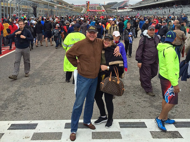 Turner & Diann Woodard At Austin Formula 1 Grand Prix at COTA